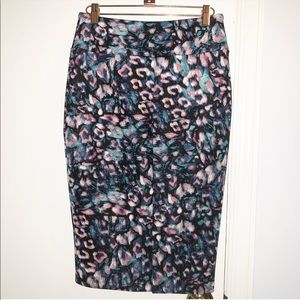 Water color pencil skirt